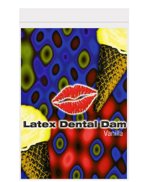 Vanilla Flavored Latex Dental Dam Condoms & Safe Sex Line One Laboratories