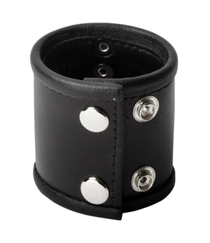 Leather Ball Stretcher with D-Ring Erection Rings XR Brands
