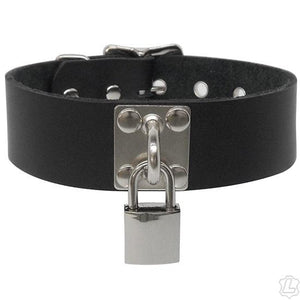 Leather Staple Plate Collar BDSM > Collars Kookie Intl.