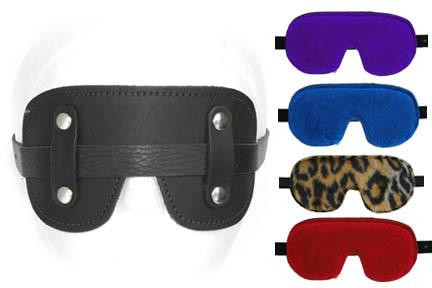 Leather with Fleece Lining Goggles BDSM > Blindfolds, Masks, & Hoods Kookie Intl.