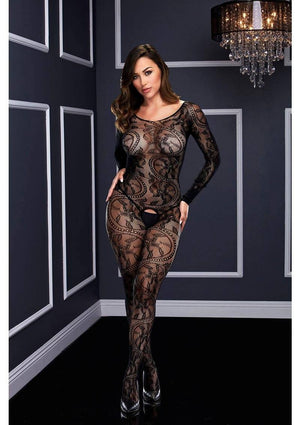 Long Sleeve Ivy Lace Bodystocking Lingerie & Clothing > Bodystocking Baci Lingerie