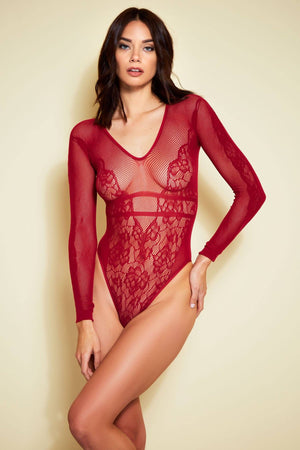 Mas Vino Long Sleeve Teddy Lingerie & Clothing > Bodystocking Hauty