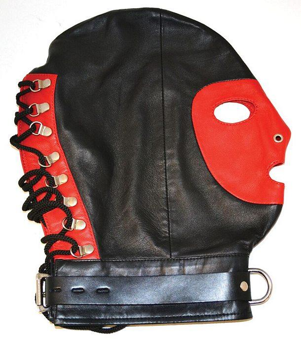 Mask with Collar BDSM > Blindfolds, Masks, & Hoods Rouge
