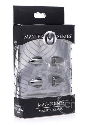Master Series Mag Points Magnetic Nip Clamp Set BDSM > Nipple and Clitoral Not specified