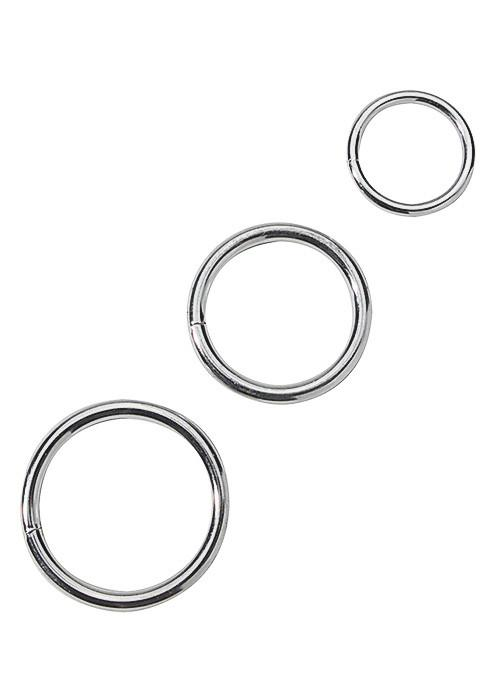 Metal Cock Ring Set Erection Rings Spartacus