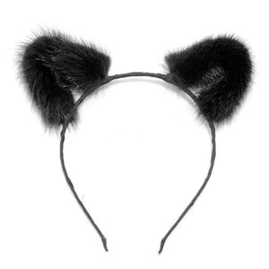 Mink Fur Cat Ears Lingerie & Clothing > Accessories Touch of Fur