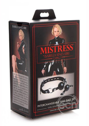 Mistress Interchangeable Silicone Ball Gag Set BDSM > Gags XR Brands