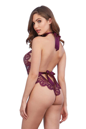Mulberry Lace Teddy Lingerie & Clothing > Lingerie Small-XL Dreamgirl International Lingerie