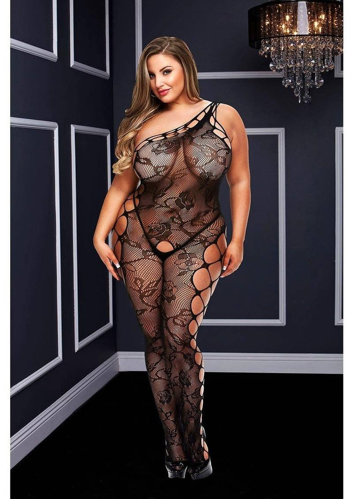 Off the Shouler Lace Bodystocking