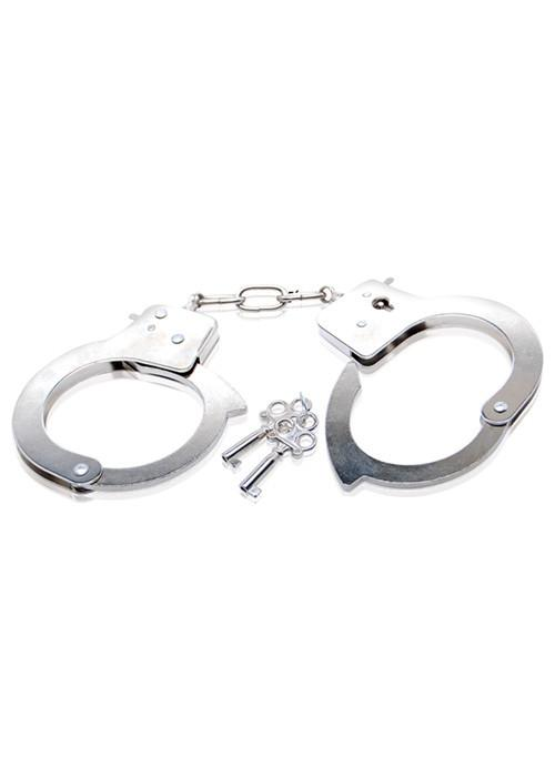 Official Metal Handcuffs BDSM > Restraints Pipedream Silver