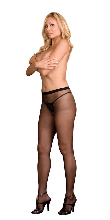 Open Crotch Pantyhose Lingerie & Clothing > Hosiery 1X - 4X Dreamgirl International Lingerie