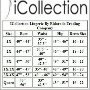Overlay Lace Cup Chemise Lingerie & Clothing > Lingerie 1X-4X iCollection Lingerie