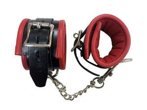 Padded Leather Ankle Cuffs BDSM > Restraints Rouge