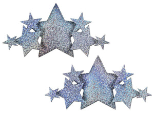 Pastease Demi Silver Glitter Star Breast Covers Lingerie & Clothing > Accessories Pastease