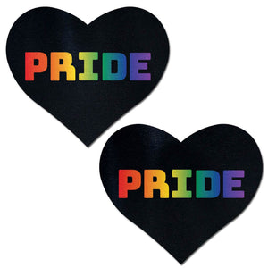 Pastease Rainbow Pride Pasties Lingerie & Clothing > Accessories Pastease Rainbow PRIDE Black Hearts