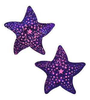Pastease Twinkling Purple Starfish Pasties Lingerie & Clothing > Accessories Pastease