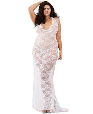 Pearl Stretch Lace Gown Lingerie & Clothing > Lingerie 1X-4X Dreamgirl International Lingerie