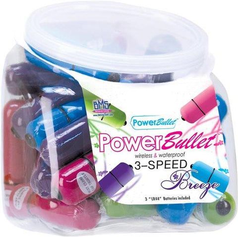 Power Bullet Breeze 3-Speed, Assorted Colors (1 bullet)