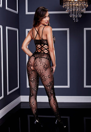 Racerback Double Strap Lace Bodystocking Lingerie & Clothing > Bodystocking S - XL Baci Lingerie