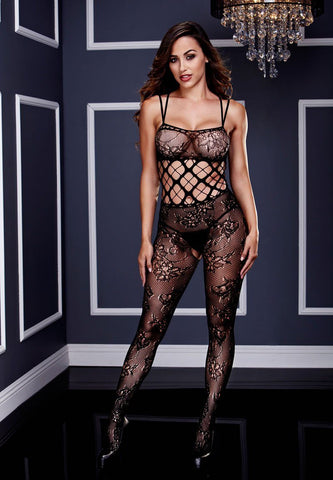 Racerback Double Strap Lace Bodystocking
