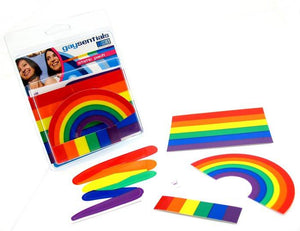 Rainbow Static Cling Pack Bachelorette & Novelty Gaysentials
