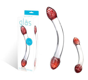 Red Head Double Glass Dildo G-Spot Toys Electric Eel, Inc