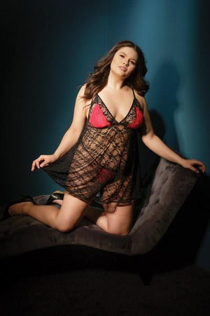 Reversible Lace Babydoll & Crotchless G-String Lingerie & Clothing > Lingerie Coquette
