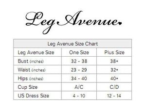 Rose Lace Flair Chemise Lingerie & Clothing > Lingerie 1X-4X Leg Avenue