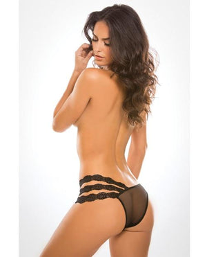 Sheer and Lace Wild Orchid Panty Lingerie & Clothing > Panties Allure