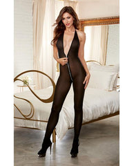 Sheer Zipper Bodystocking Lingerie & Clothing > Bodystocking S - XL Dreamgirl International Lingerie