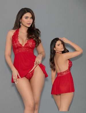 Shorty Babydoll & Open Panty Lingerie & Clothing > Lingerie Escante'