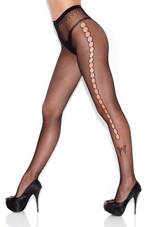 Side Keyholes And Butterfly Pantyhouse Lingerie & Clothing > Hosiery S - XL Hauty