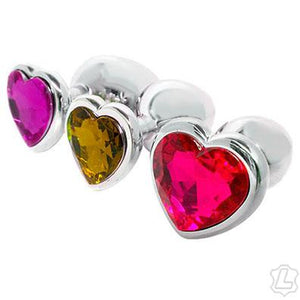 Small Jewel Heart Butt Plug Anal Toys Kookie Intl.