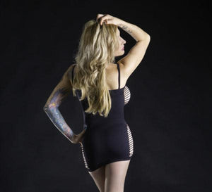 Spaghetti Strap Dress with Side and Front Cut-Outs Lingerie & Clothing > Lingerie Small-XL Beverly Hills Naughty Girl