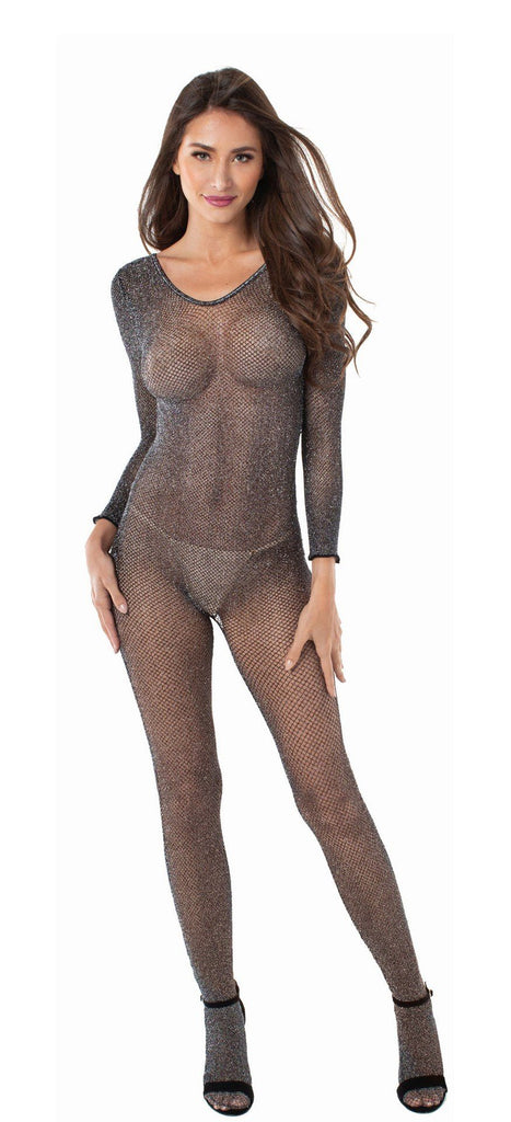 Stargazer Metalic Mesh Bodystocking Lingerie & Clothing > Bodystocking S - XL Dreamgirl International Lingerie