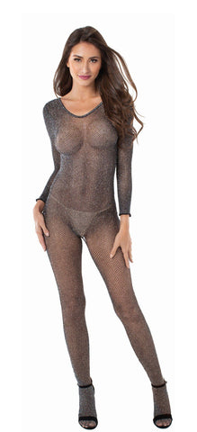 Stargazer Metalic Mesh Bodystocking