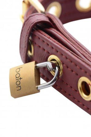 Strict Leather Burgandy Locking Collar BDSM > Collars Strict Leather