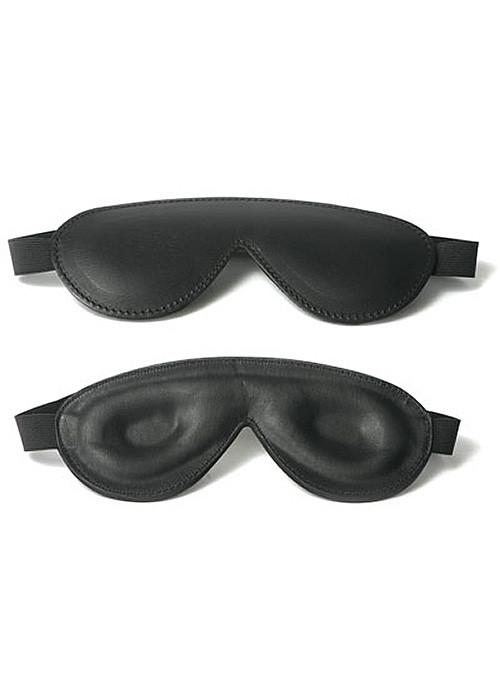 Strict Padded Leather Blindfold, Black