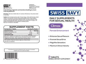 Swiss Navy Climax For Her Pill Pack (2 count) Enhancers & Supplements MD Science Labs
