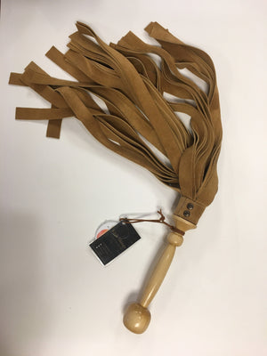 Tan Suede & Maple Flogger BDSM > Floggers & Whips Kink Things