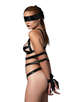 Three-Piece Bondage Teddy Lingerie & Clothing > Lingerie Small-XL Not specified