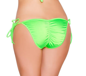 Tie Side Pucker-Back Lined Bottom Lingerie & Clothing > Club Wear Roma Lime