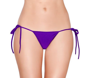 Tie Side Pucker-Back Lined Bottom Lingerie & Clothing > Club Wear Roma Purple
