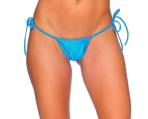 Tie-Side T-Back Thong Lingerie & Clothing > Club Wear BodyZone Apparel Turquoise
