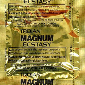 Trojan Magnum Ecstasy 3pk Condoms & Safe Sex Trojan