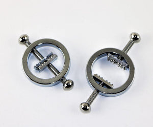 Two-Way Tightening Nipple Clamps with Studs BDSM > Nipple and Clitoral Touch of Fur