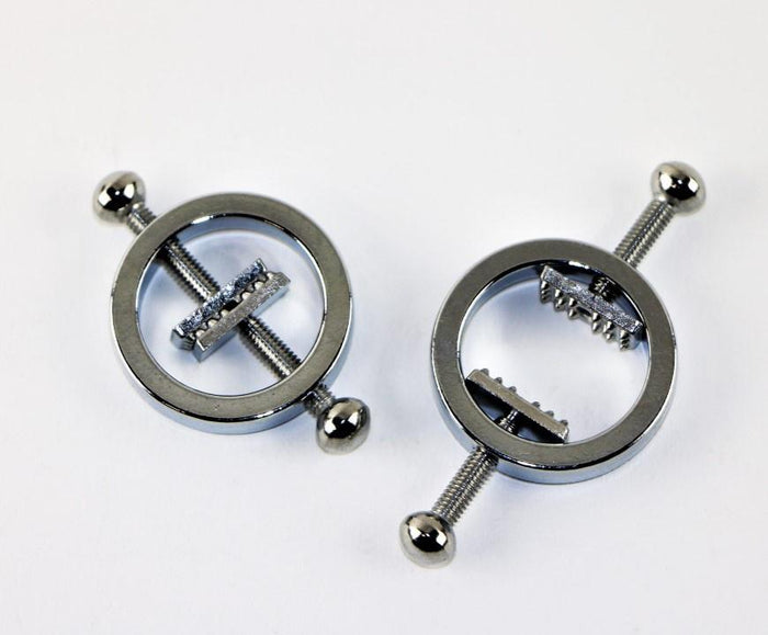Two-Way Tightening Nipple Clamps with Studs