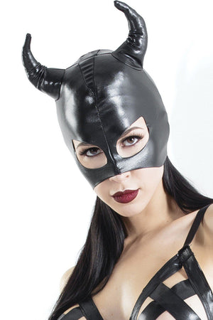 Wet Look Devil Mask BDSM > Blindfolds, Masks, & Hoods Coquette