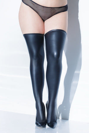 Wet Look Stay Up Stocking Lingerie & Clothing > Hosiery S - XL Coquette