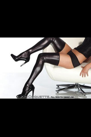 Wet Look Stockings XL